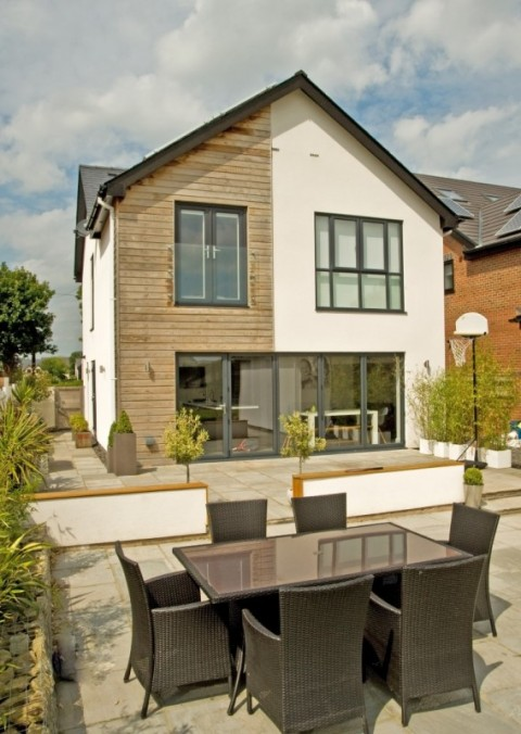Anthracite Grey UPVC Windows & Aluminum bi-Folding Doors