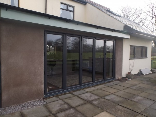 Anthracite grey UPVC Bi-folding Doors
