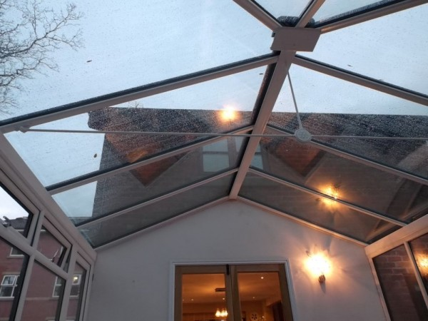 High specification glass roof upgrade