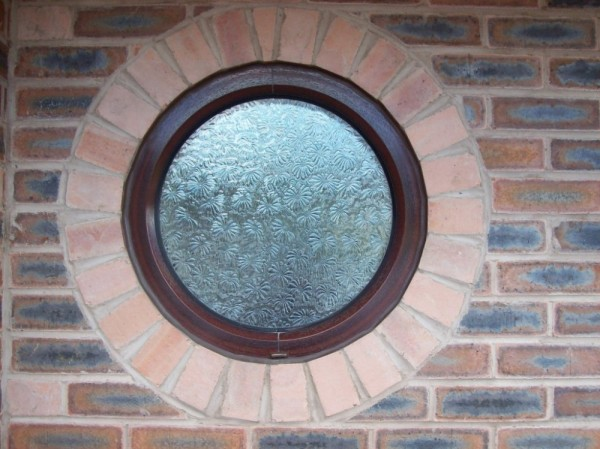 Mahogany Round Window