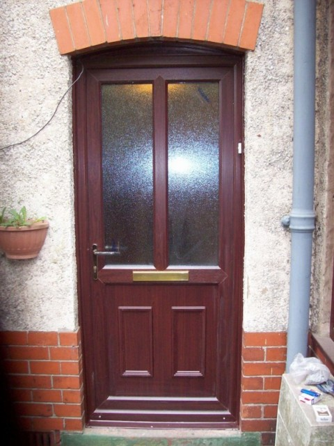 Rosewood UPVC Door