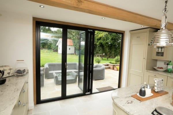 Black aluminium Bi-Folding Doors