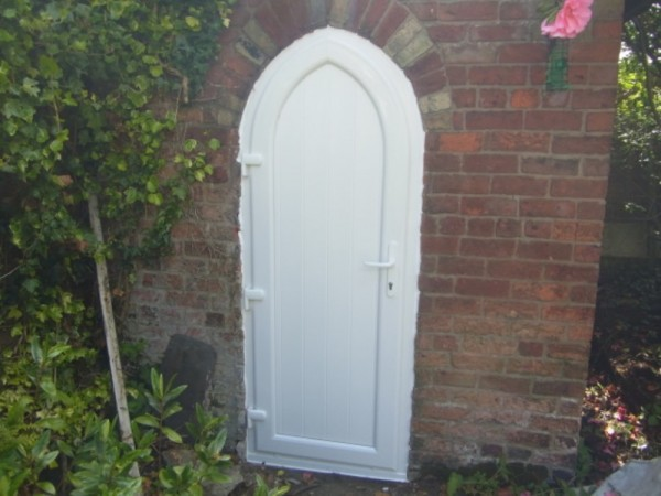White T&G UPVC door