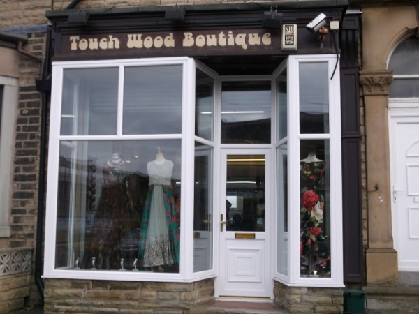 White UPVC frames shop front