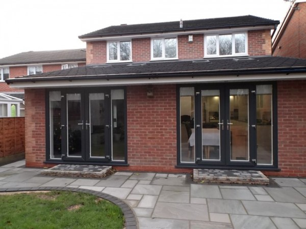 Anthracite grey French Doors