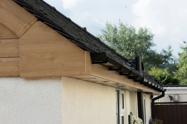 Irish oak fascias,Soffits & Black square line gutter