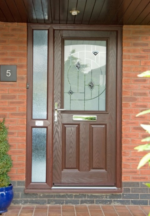 Rosewood combination composite door