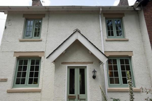Chartwell green flush sash windows with astrical bar