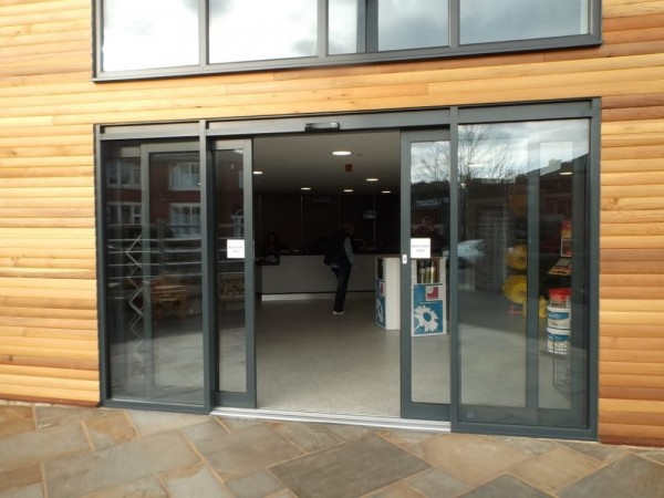 Automated entrance doors( BG Fencing )