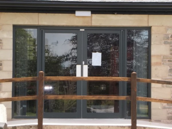 Anthracite grey aluminium Patio Doors Church Preston