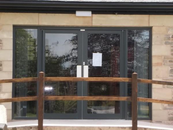 Anthracite grey aluminium Patio Doors Church Preston