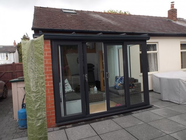 Anthracite grey UPVC Lean-2 Conservatory