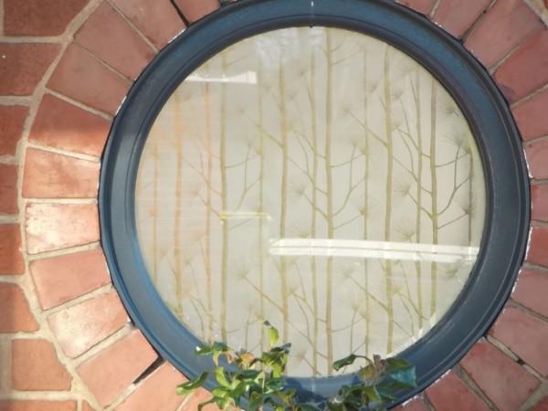 Grey UPVC round window