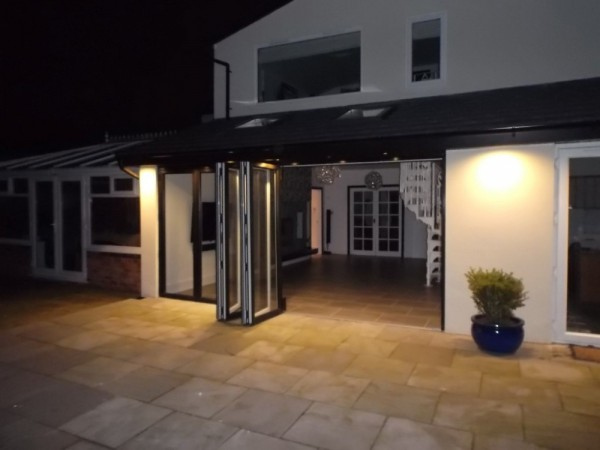 Black UPVC Bi-Folding Doors