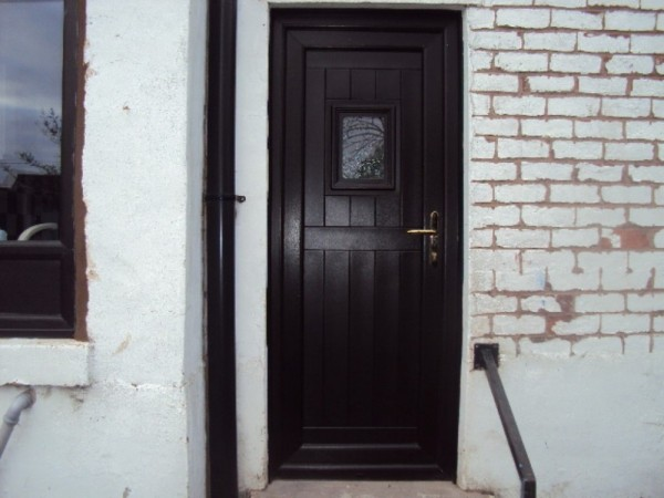 Black UPVC Door