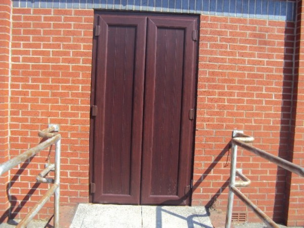 Rosewood french Door With T&G Panel