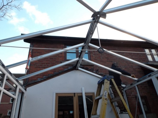 High specification glass roof upgrade (In construction)