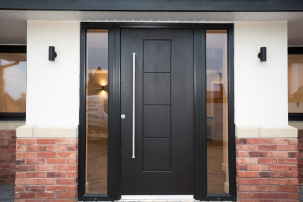 Black Rock door combination frame