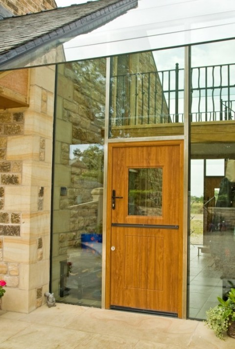Golden Oak Stable Rock Door