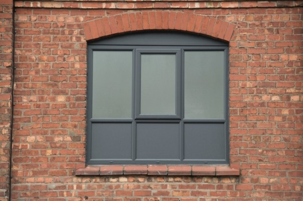 Anthracite grey out- white inside UPVC windows