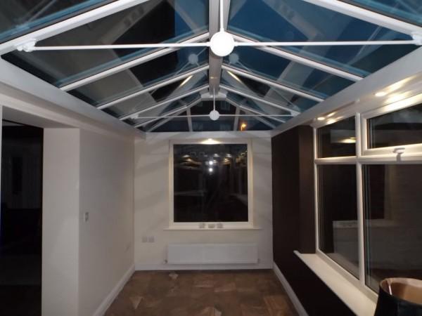Internal veiw white conservatory