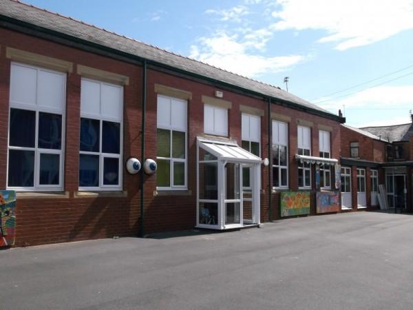 White UPVC Frames (School Blackpool)