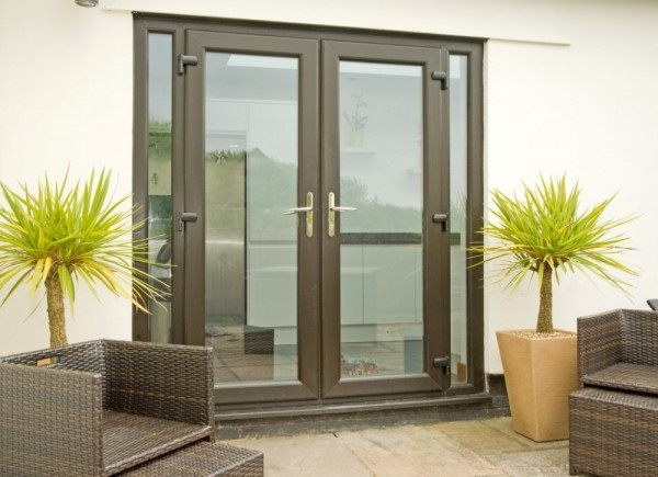 Black UPVC French Door Combination