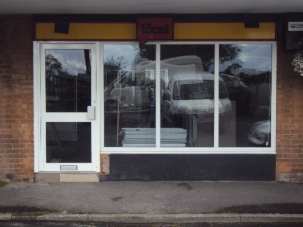 White UPVC Window & White Aluminum Door (Shop Goosnargh)