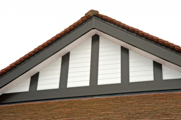Black UPVC Fascias & White Soffits & Black Tudor Board