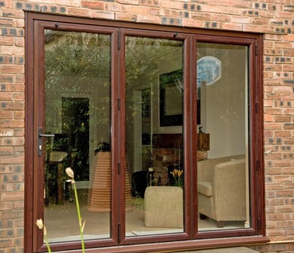 Rosewood UPVC Bi-Folding Doors
