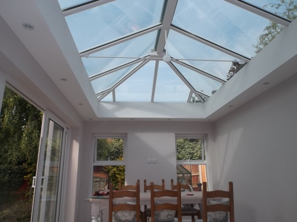 New build orangery (internal view)