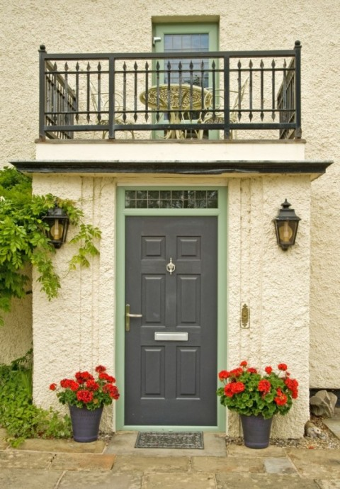 Chartwell Green Frame Anthracite grey Rock door