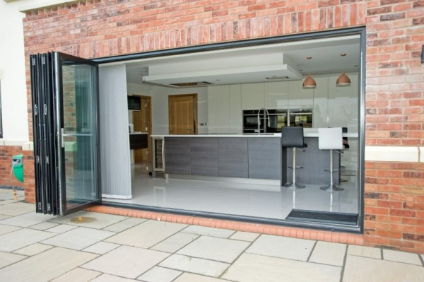 Black Aluminium Bi-Folding Doors