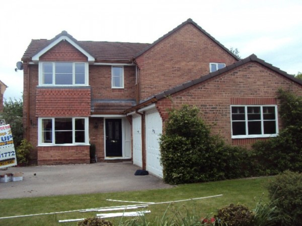 White Fascias & Soffits & Brown Dry Verge