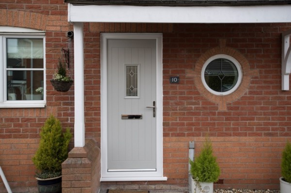 Silver grey Composite Door