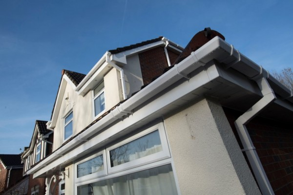 White UPVC fascias,soffits & square line rain water goods