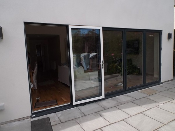 Black out /White in UPVC Bi-Folding Doors