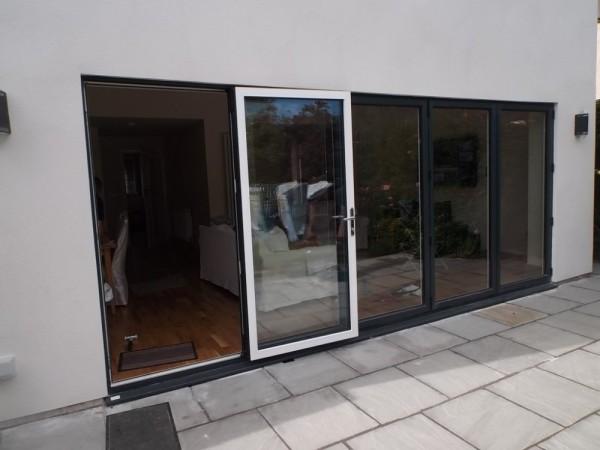 Black out /White in UPVC Bi-Folding Doors