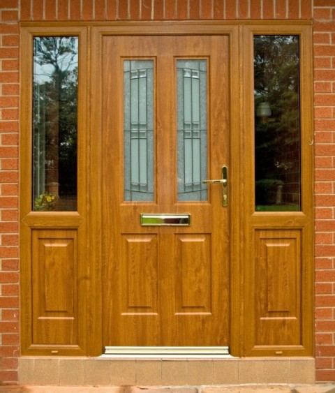 Golden Oak Rock Door Combination Frame