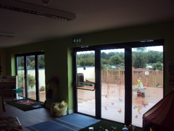 Black Aluminum Bi-folding Doors