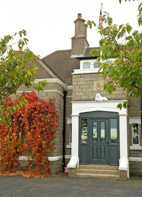 Anthracite grey VEKA Composite Door (Combination)