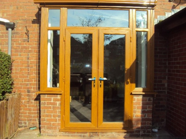 Golden Oak French door Combination