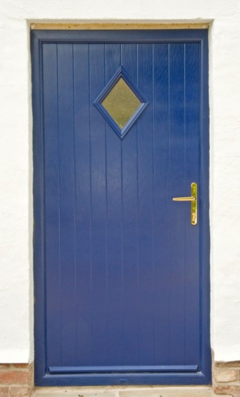Blue Sprayed Composite Door