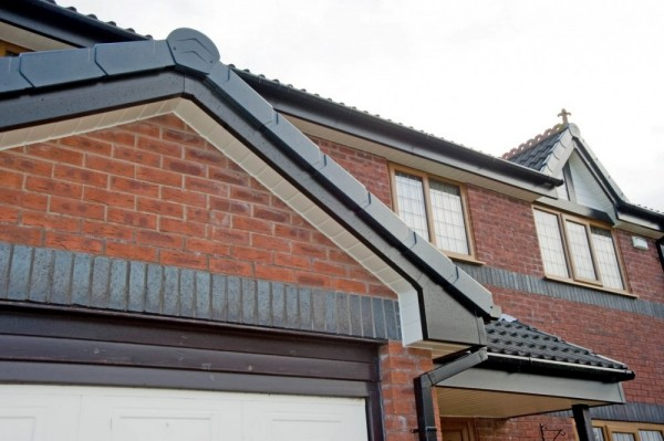 Black UPVC Fascias,Black Tudor Board & Cream Soffits