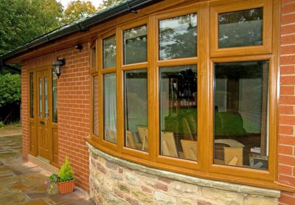 Golden oak UPVC Windows & Composite Door