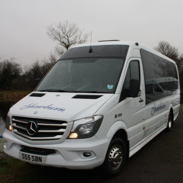 19 seater full leather mercedes coach