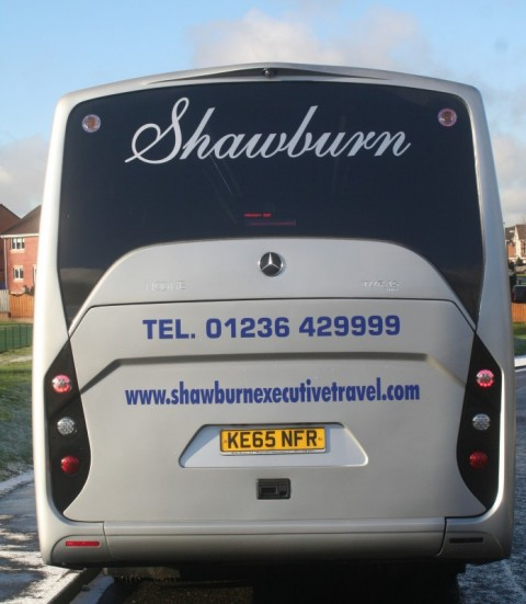 rear of mercedes 29 seater coach