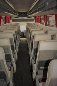 49 Seater Volvo Coach Interior view