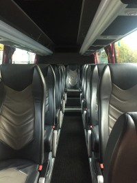 Mercedes Sprinter 19 Seater Interior view Full Leather