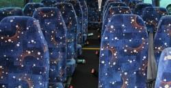 Mercedes 24 Seater Interior Fabric seats